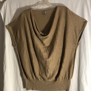 Gold flecked short sleeve sweater